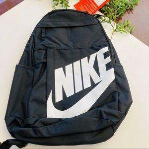 Nike new black backpack w white logo